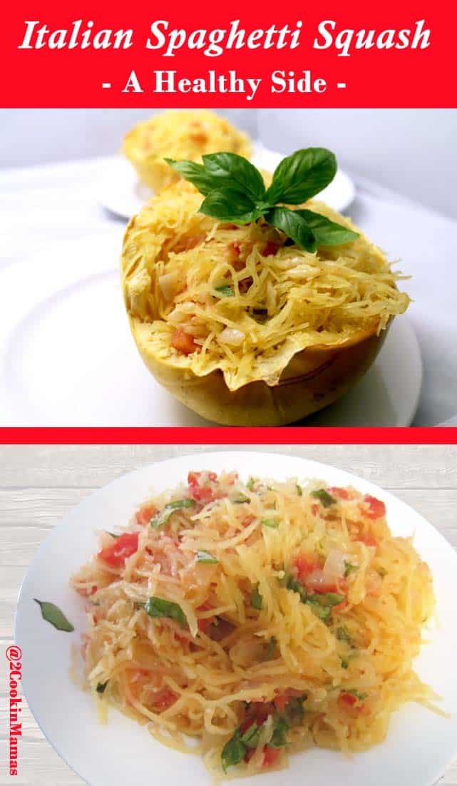 A healthy way to get your spaghetti fix! Baked spaghetti squash tossed with a delicious tomato-basil sauce, perfect for a side dish or a meatless main meal.