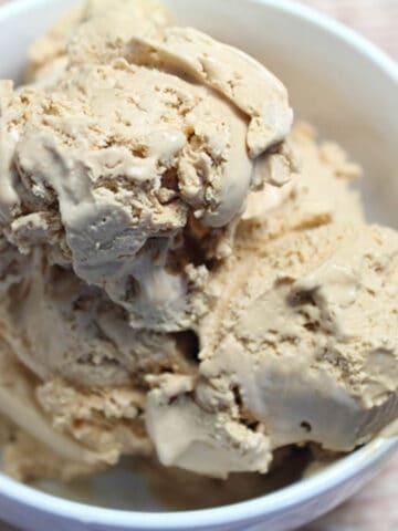 No Churn Coffee Ice Cream square | 2 Cookin Mamas