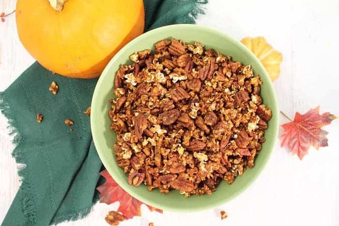Pumpkin Caramel Popcorn overhead 3