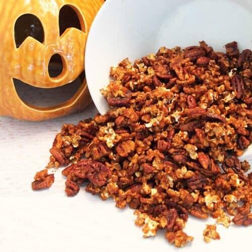 Pumpkin Caramel Popcorn square