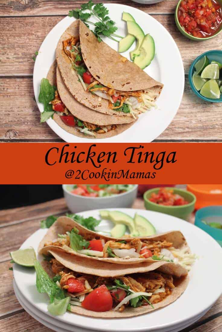 Chicken Tinga | 2CookinMamas - An easy to fix, slightly spicy chicken great on tortillas or a hoagie.