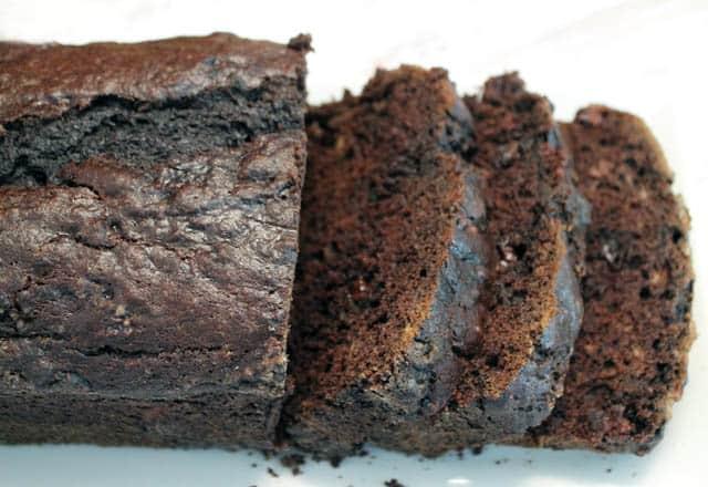 Chocolate Banana Bread sliced   2CookinMamas