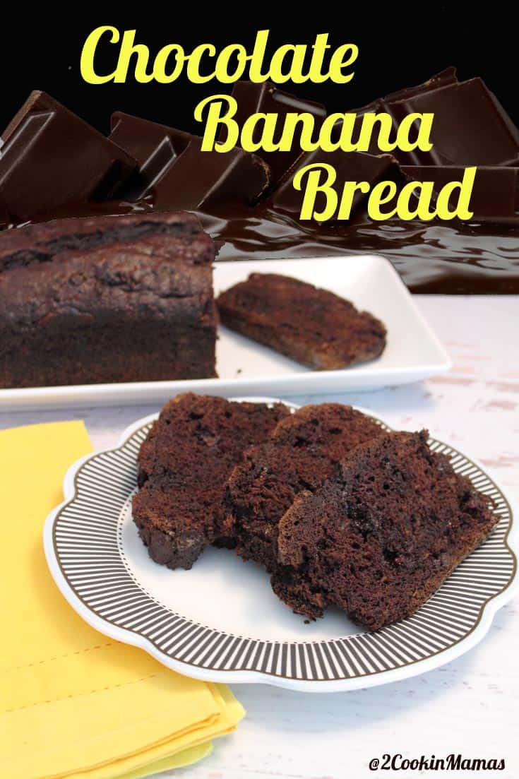 This recipe takes banana bread up a notch by adding rich cocoa & chocolate chips. Chocolate banana bread is great for breakfast or as a delicious dessert.