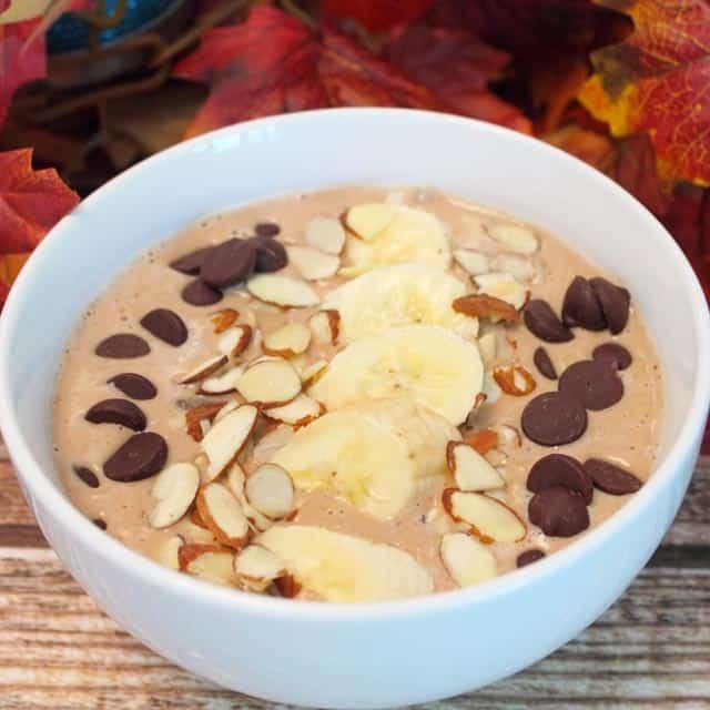 Chocolate Caramel Smoothie square | 2CookinMamas