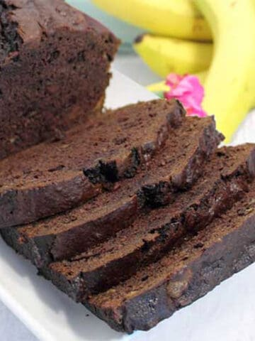 Double Chocolate Banana Bread square 2