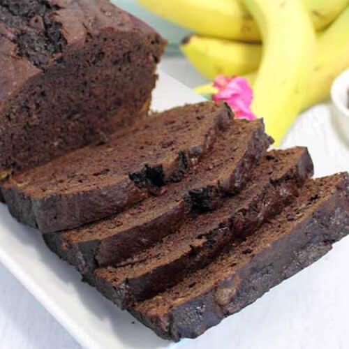 Double Chocolate Banana Bread square 2