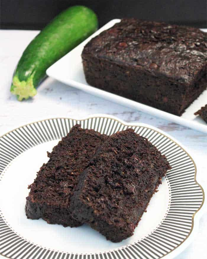Double Chocolate Zucchini Bread tall | 2 Cookin Mamas