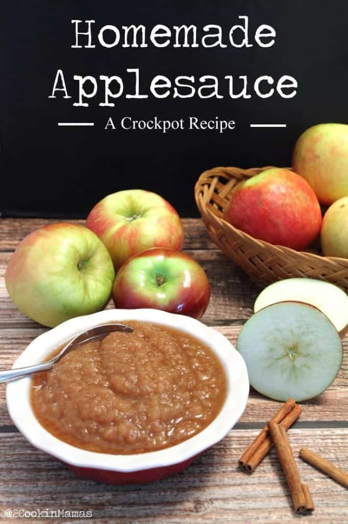 Homemade Applesauce | 2CookinMamas - Fresh apples simmered in the crockpot with plenty of cinnamon. So good it tastes like dessert!