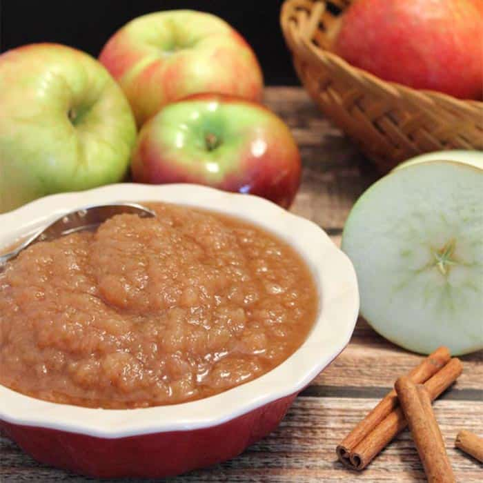 Homemade Applesauce square | 2 Cookin Mamas