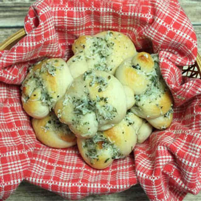 Easy Parmesan Knots square