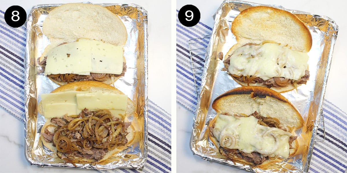 Preparing sandwiches for boiler.