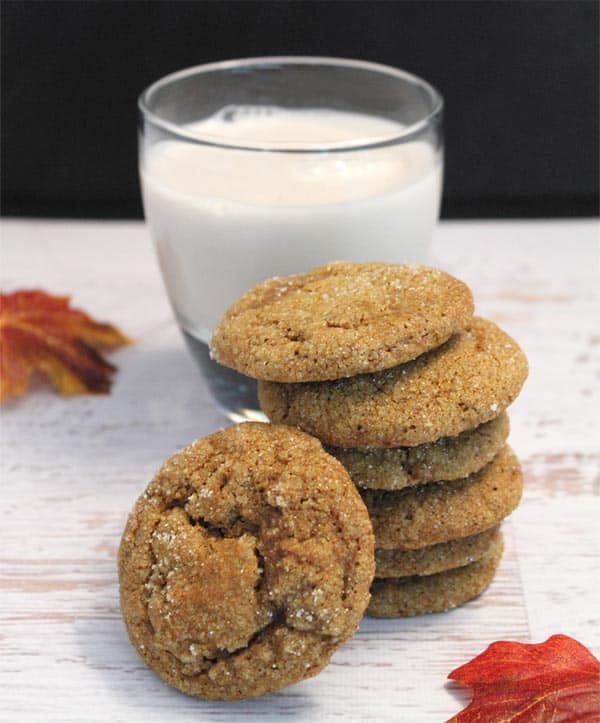 Pumpkin Spice Cookies and milk|2CookinMamas