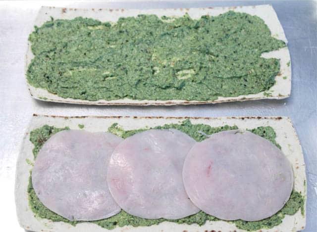 Turkey Apple Pesto Flatbread step 1