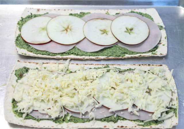 Turkey Apple Pesto Flatbread step 2