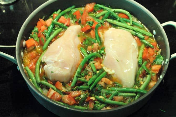 Chicken and Green Beans 670   2CookinMamas