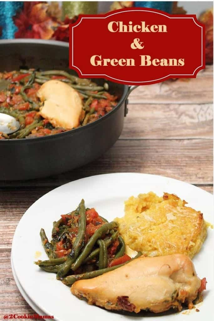 Chicken and Green Beans main   2CookinMamas - A simple to put together recipe full of fresh Mediterranean flavors.