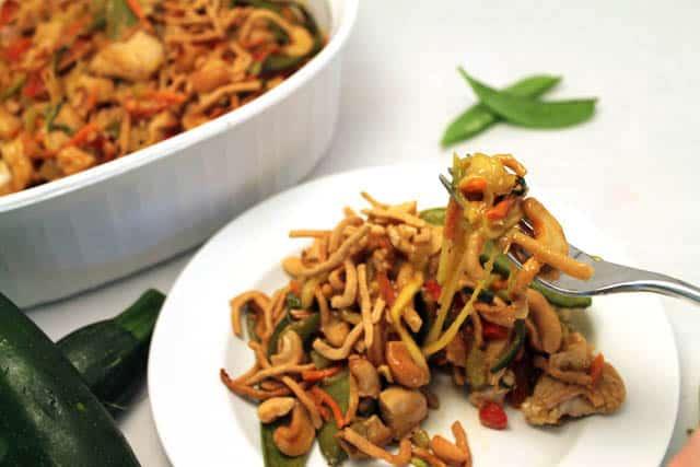 Chinese Chicken Casserole take a bite|2CookinMamas