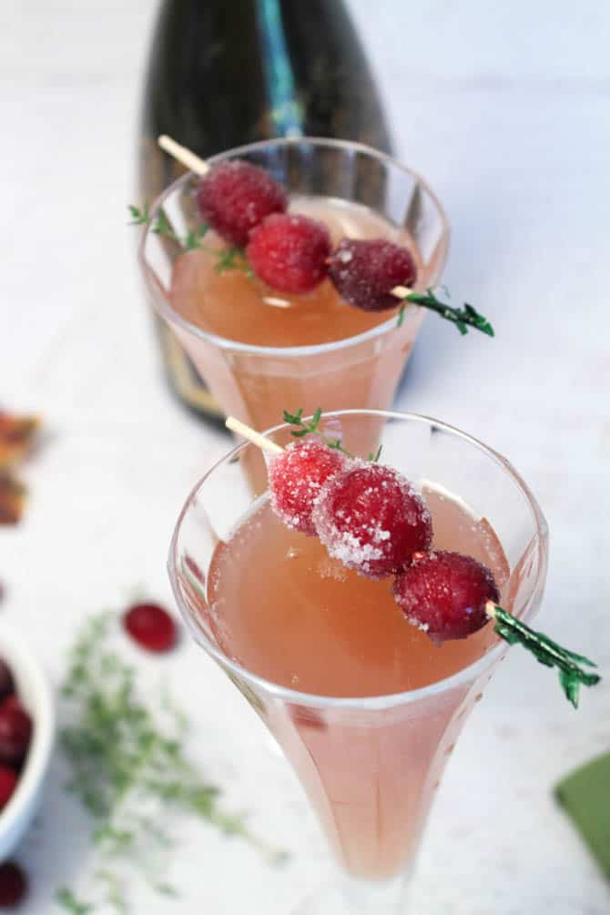 Cranberry Mimosas closeup|2CookinMamas