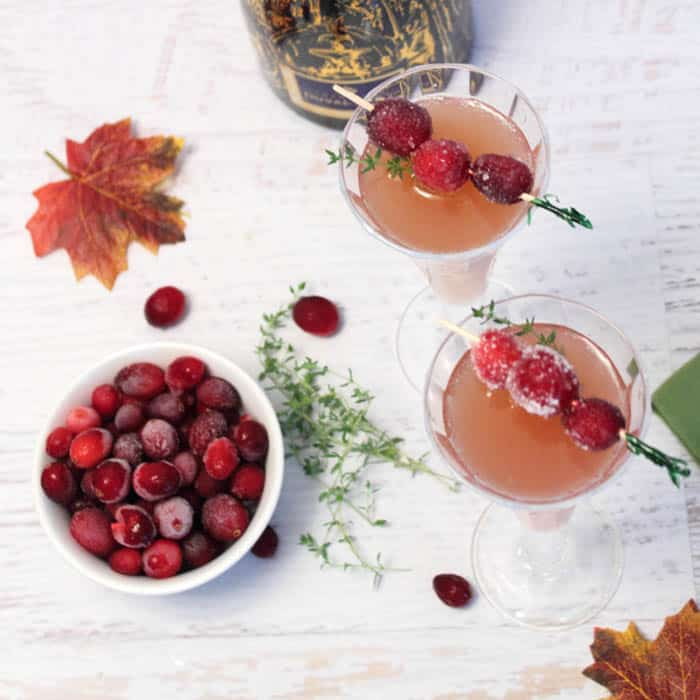 Cranberry Mimosas square | 2 Cookin Mamas