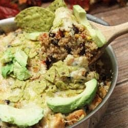 Mexican Quinoa Bake square new | 2 Cookin Mamas