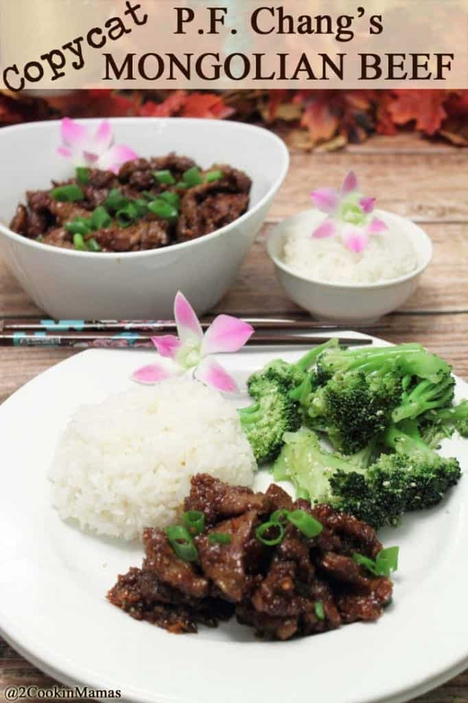 PF Changs Copycat Mongolian Beef | 2CookinMamas - Have your favorite PF Chang's dish whenever you want! It's that cirspy beef you just can't get enough of! Quick, easy and delicious!