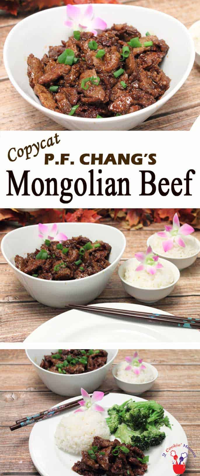 Love PF Chang's Mongolian Beef? This easy copycat recipe tastes just like the original - crispy beef in a deliciously flavored sweet soy sauce. #mongolianbeef #dinner #quickandeasydinner #asiancuisine #beef