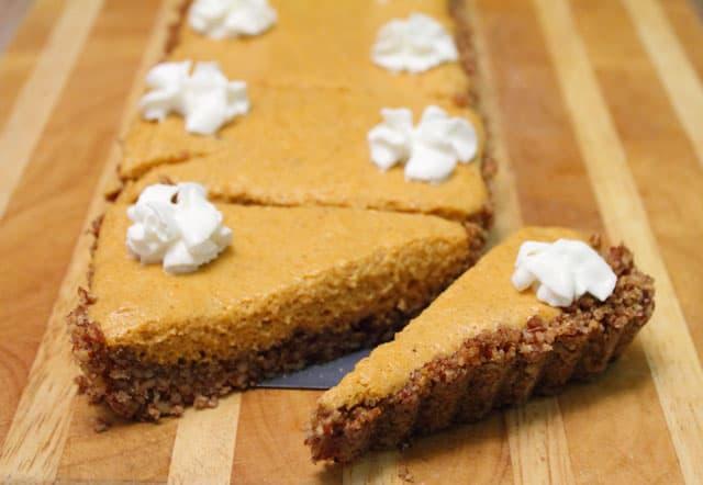 Pumpkin Chiffon Tart closeup | 2CookinMamas