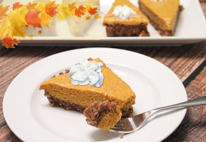 Pumpkin Chiffon Tart plated 2CookinMamas