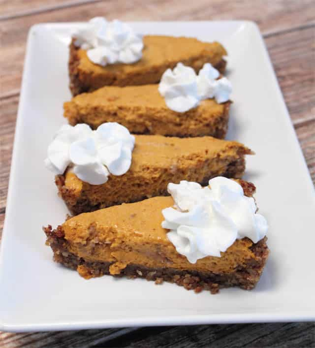 Pumpkin Chiffon Tart serving | 2CookinMamas