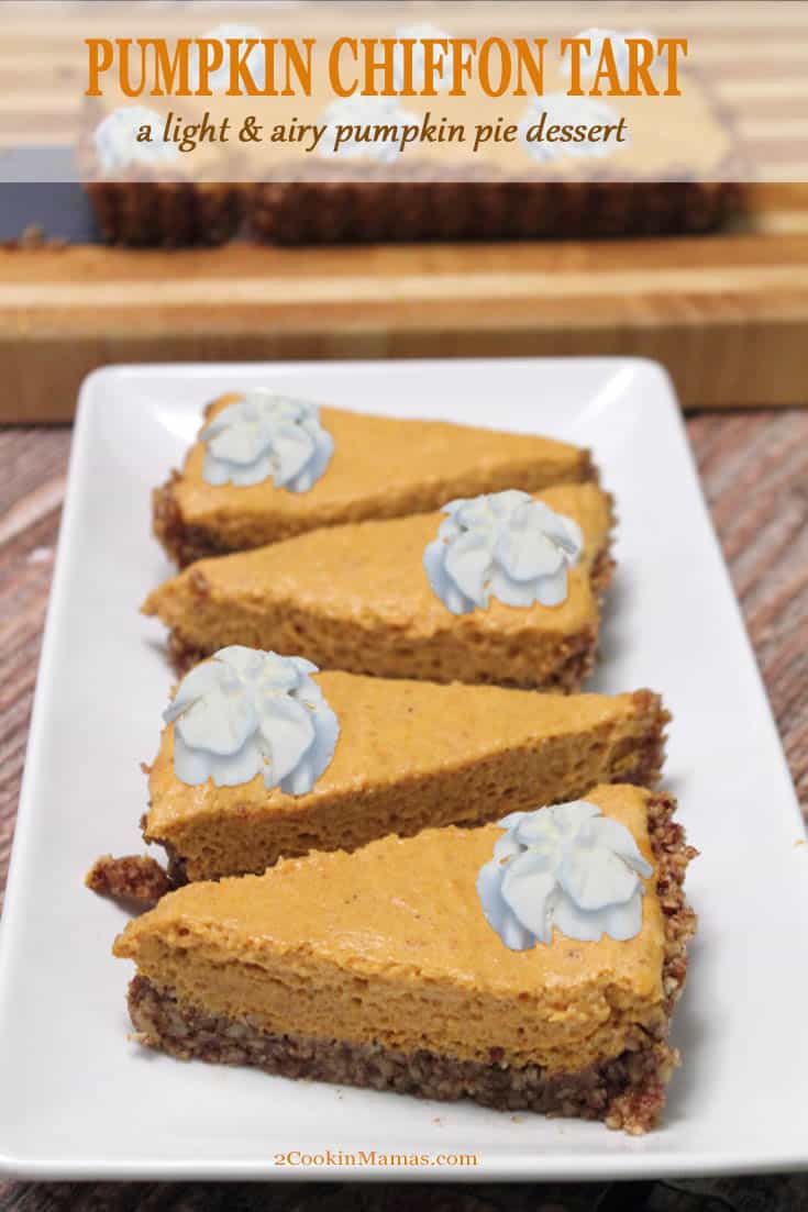 Pumpkin Chiffon Tart – Deliciously Light Dessert