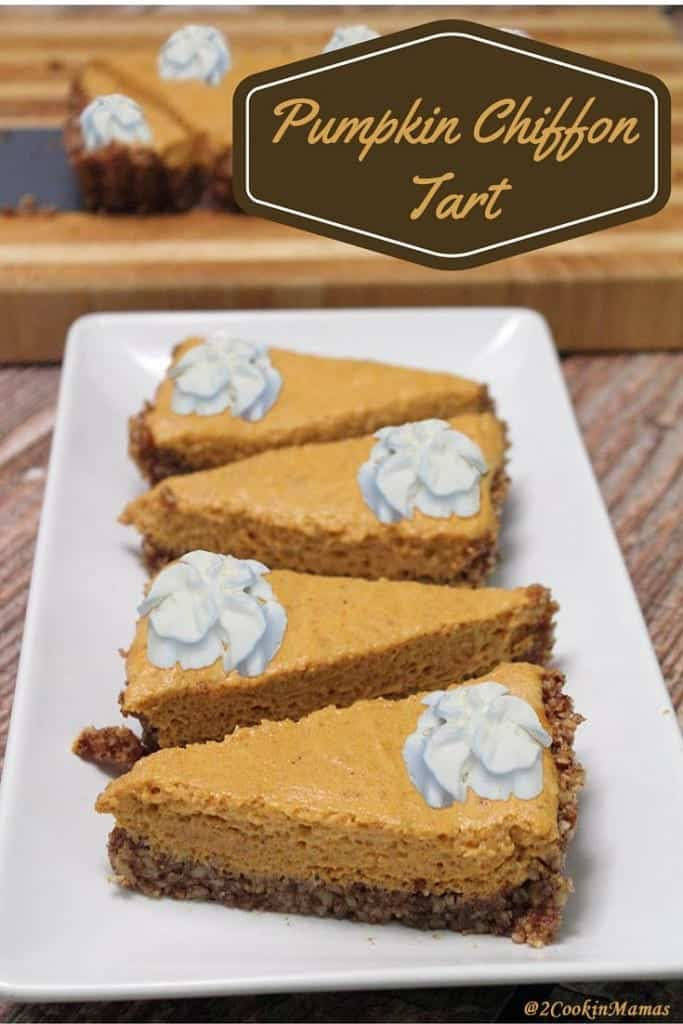 Pumpkin Chiffon Tart | 2CookinMamas - A lighter version of a pumpkin pie perfect for finishing off the holiday feast. And it's gluten-free too!