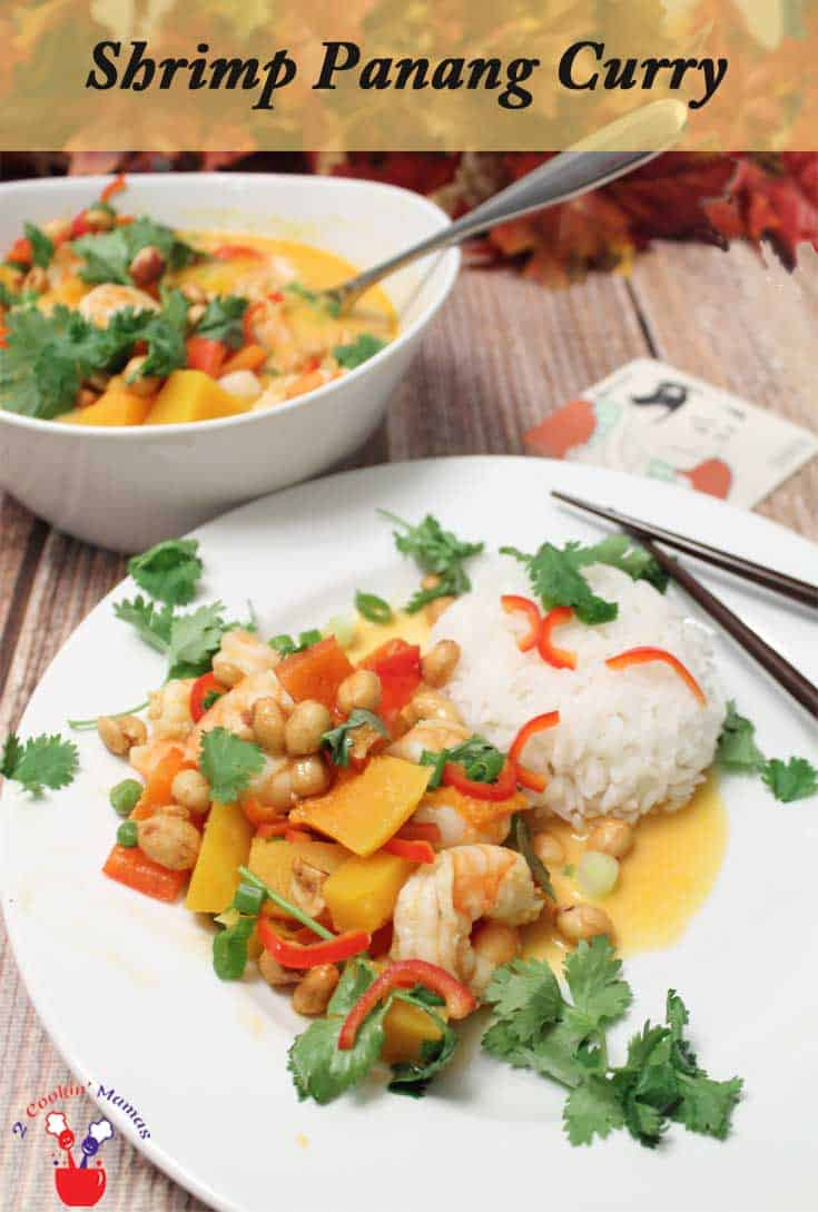 Quick & easy Shrimp Panang Curry is perfect for a busy weeknight dinner. Keep it healthy & gluten-free by serving it over brown rice or quinoa.