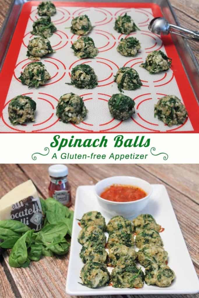 Spinach Balls main | 2CookinMamas - a delicious gluten-free and super easy appetizer full of fresh spinach and cheddar cheese.