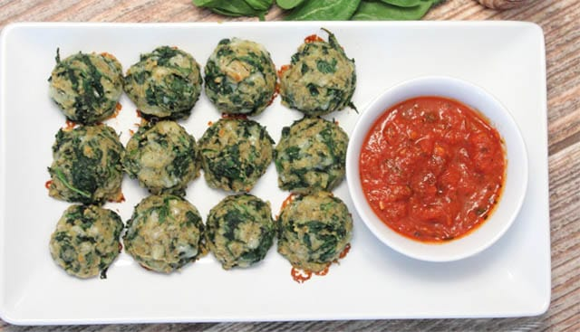 Spinach Balls overhead|2CookinMamas
