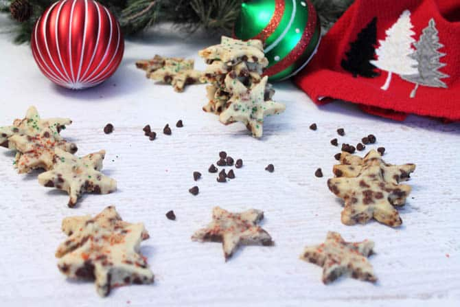 Chocolate Chip Toffee Shortbread Cookies 670|2CookinMamas