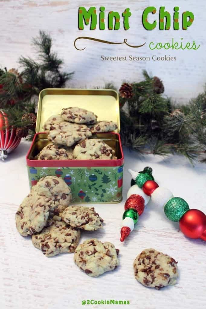 Mint Chip Cookies | 2CookinMamas - Delicious cookies you can make in no time starting with a cake mix!