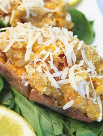 Quinoa Stuffed Sweet Potatoes square 1