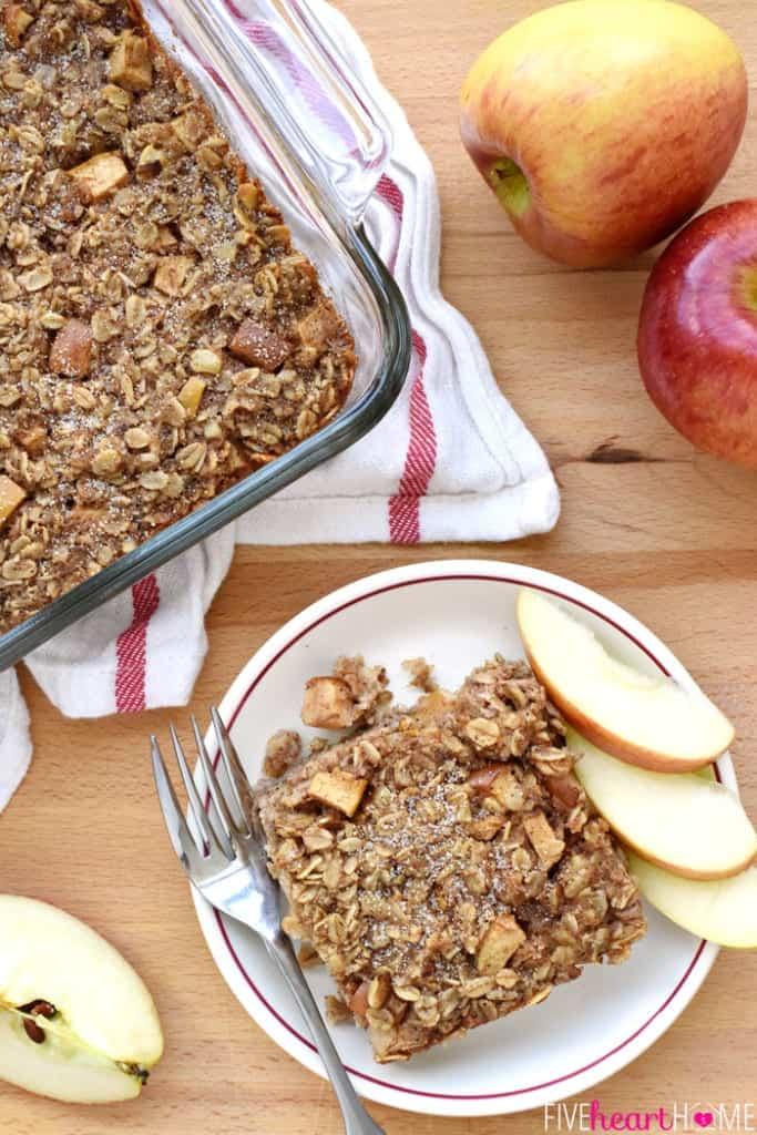Apple-Cinnamon-Baked-Oatmeal-Breakfast-Recipe-by-Five-Heart-Home