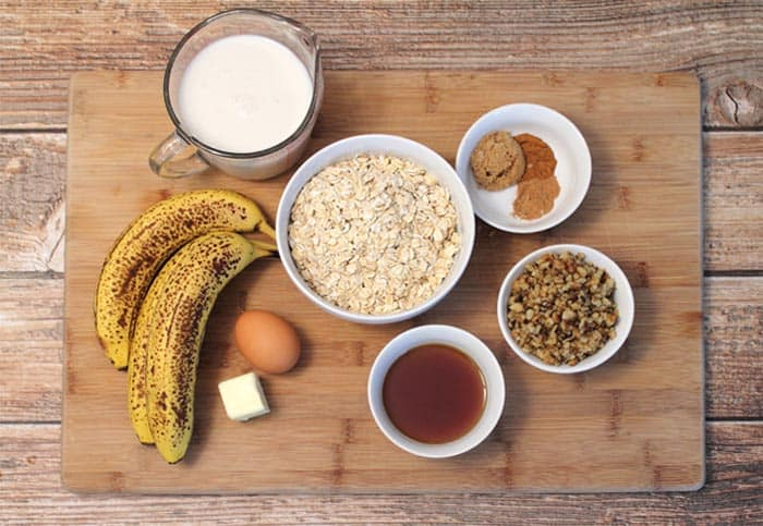 Banana Maple Oatmeal ingredients|2CookinMamas