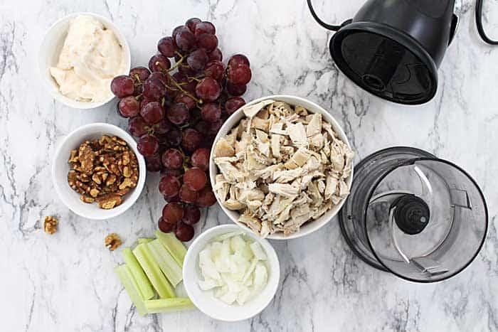 Ingredients for making salad.