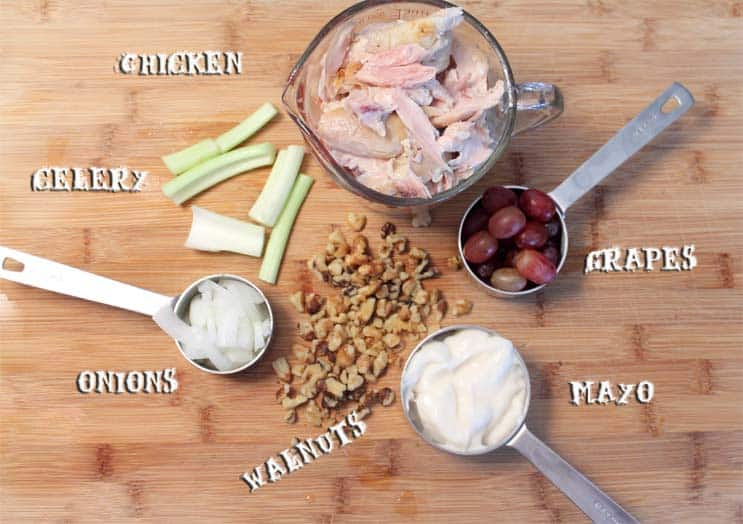 Chicken Walnut Salad ingredients|2CookinMamas