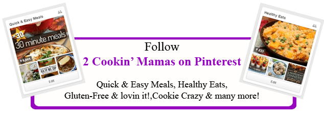 Follow 2CookinMamas on Pinterest