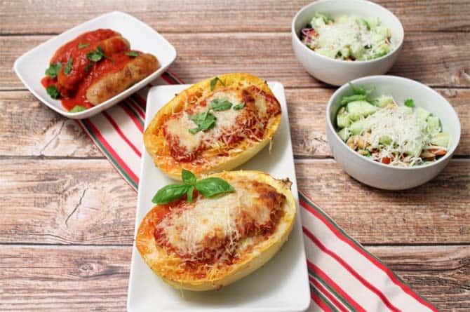 Lasagna Stuffed Spaghetti Squash 670|2CookinMamas