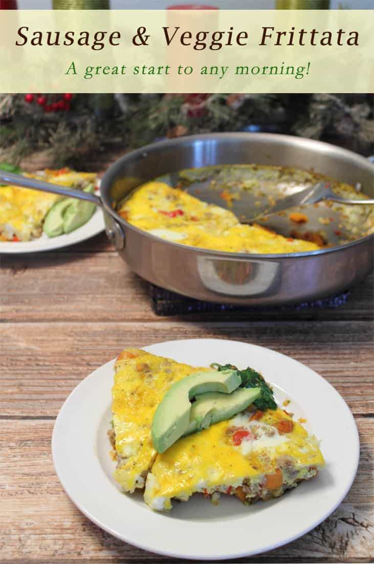 30 Days to a New You is a great book to help you improve your health. This recipe for a Sausage & Veggie Frittata is a great way to get started. #recipe #bookreview #frittata #eggs #sausage #sweetpotato #breakfast #healthy #cookbook