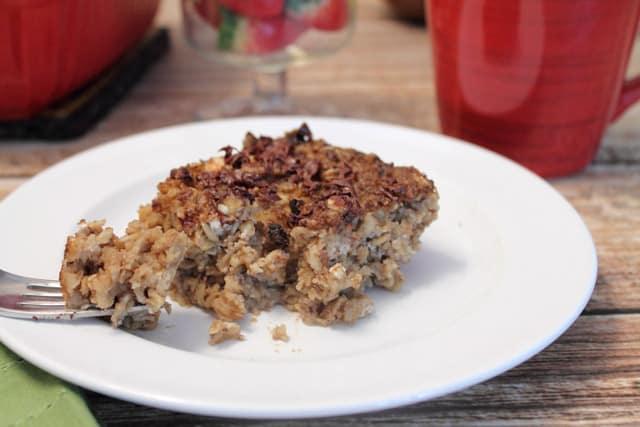 Tiramisu Oatmeal Bake closeup|2CookinMamas