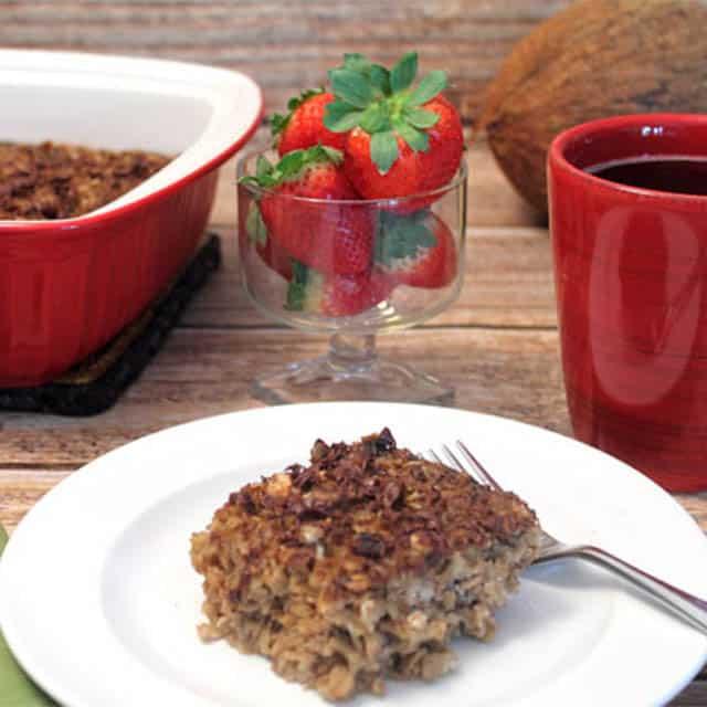Tiramisu Oatmeal Bake | 2 Cookin Mamas