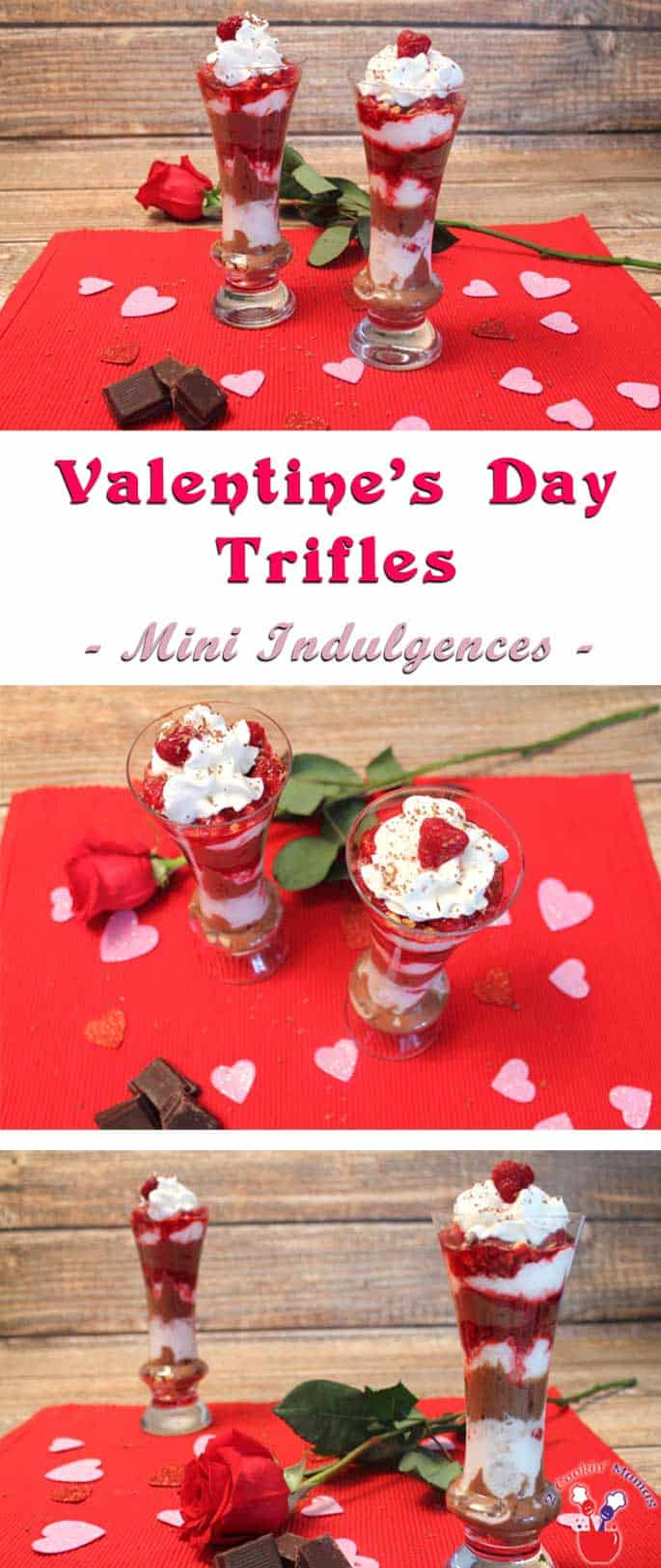 Deliciously decadent with dark chocolate & raspberries, this Valentine trifle is the perfect indulgence for a healthy Valentine's Day dessert. #ValentinesDay #dessert #yogurt chocolate #raspberries #recipe