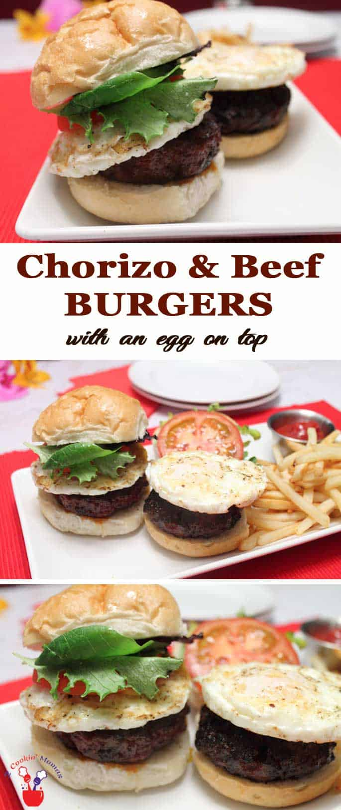 Chorizo and Beef Burgers | 2CookinMamas A delicious way to spice up that hamburger! Great as sliders with a side of fries.