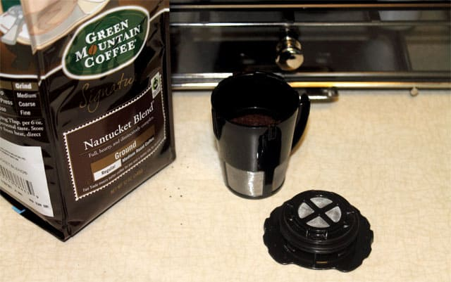 Keurig Reusable Filter filling|2CookinMamas