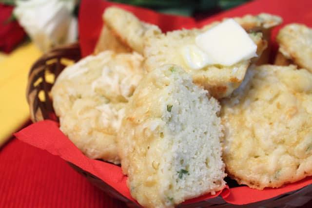 Savory Cheese Muffins closeup|2CookinMamas
